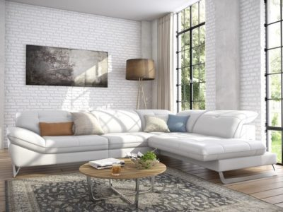 Canapé d'angle moderne sur mesure Lilas