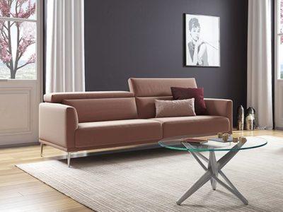 Canapé design sur mesure avec tétières Lys