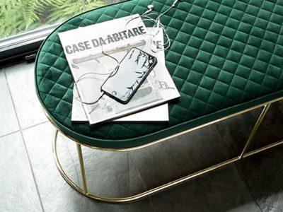 Banc design capitonné Calligaris - Atollo