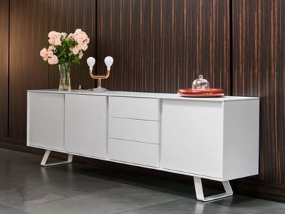 Buffet contemporain blanc Calligaris secret 4 portes