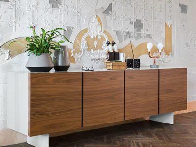 Buffet enfilade design Calligaris Sipario 4 portes