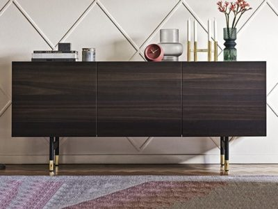 Buffet noyer design Calligaris Horizon