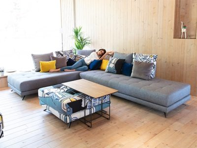 Canapé angle cocooning Fama Pacific Meubles Bouchiquet Dunkerque
