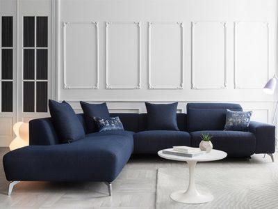 Canapé d'angle design sur mesure personnalisable Pivoine