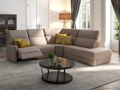 Canapé d'angle droit confortable relax Tournesol