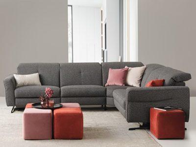 Canapé d'angle relax contemporain personnalisable Lavande