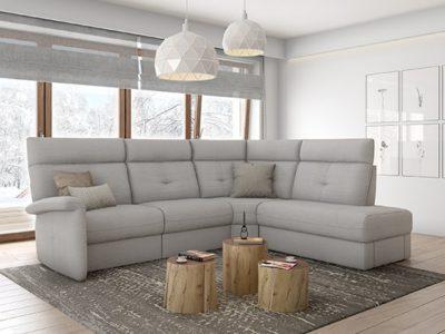 Canapé angle relax électrique Wax