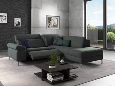 Canapé d'angle relax moderne Dahlia