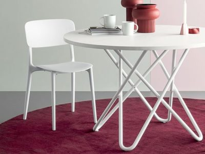 Chaise cuisine design blanche Calligaris Liberty