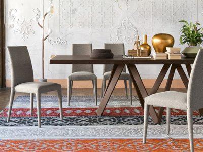Chaise de salle à manger design tissu Calligaris Anais