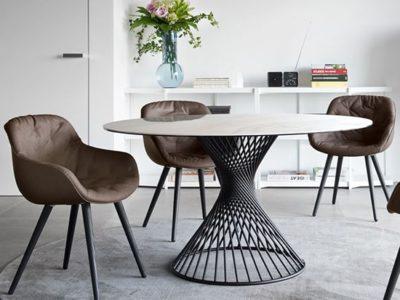 Petite table ronde design Calligaris Vortex