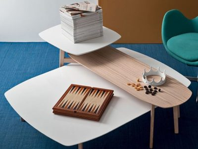 Table basse bois scandinave Calligaris Match
