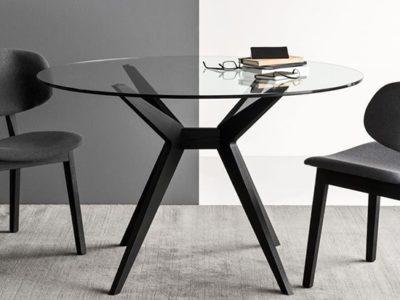 Table en verre moderne ronde Calligaris Kent