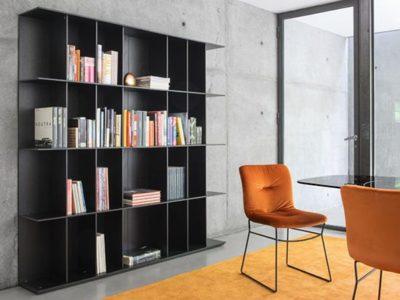 Bibliothèque meuble contemporain noir Calligaris Division