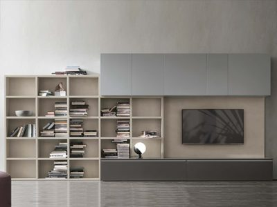 Bibliothèque meuble TV Contemporain A118
