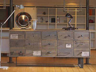 Buffet multi tiroirs bois industriel Story
