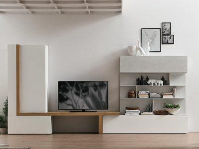 Composition meuble TV scandinave A077