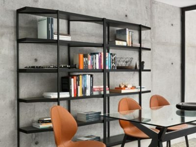 Meuble de bibliothèque haute noir design Calligaris Hangar