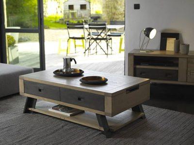 Table basse bar industrielle Arti