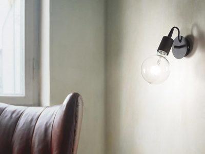 Applique murale en verre Ampoule