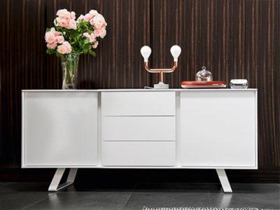 Buffet blanc 2 portes et 3 tiroirs - Calligaris