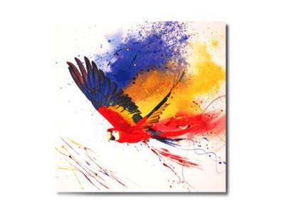 Cadre en toile perroquet - Tropika