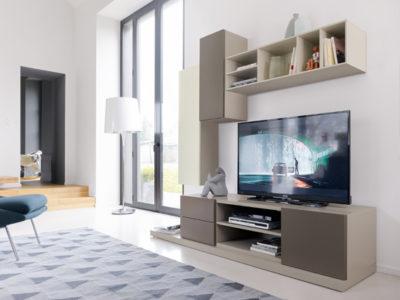 Composition TV avec 2 colonnes murales Composium - Promotion