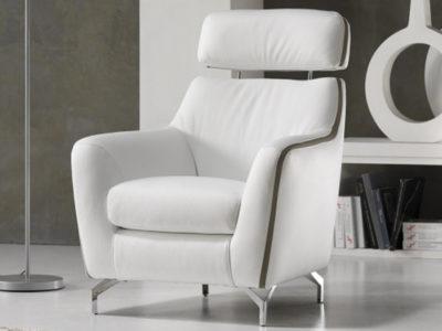 Fauteuil design blanc Karin ambiance