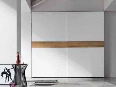 Grande armoire portes coulissantes blanche personnalisable tablet