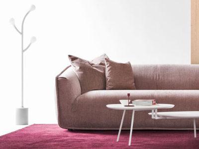 Lampadaire salon design blanc Calligaris Pom Pom