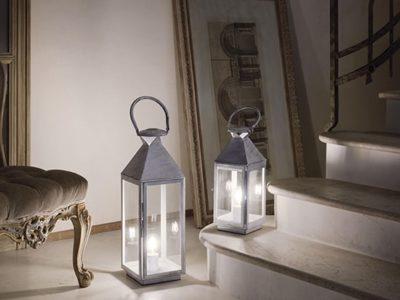 Lampe lanterne chrome Merm ambiance