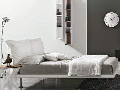 Lit design blanc personnalisable Tomasella Dream