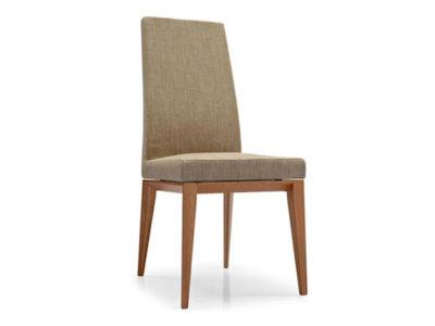 Lot de 2 chaises design dossier haut Calligaris tissu beige