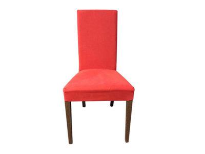 Lot de 2 chaises design dossier haut Calligaris tissu rouge