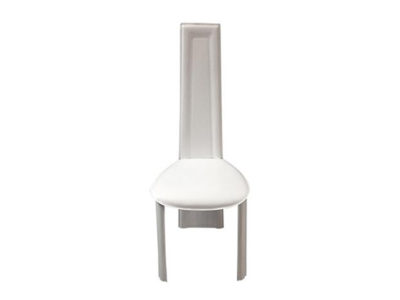 Lot de 6 chaises en synderme de cuir blanc - Rhad