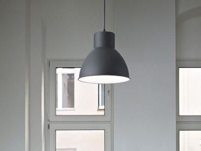 Suspension luminaire noir Met ambiance