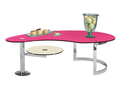 Table basse rose moderne