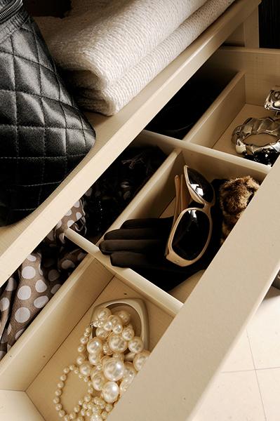 tiroir compartiments armoire dressing
