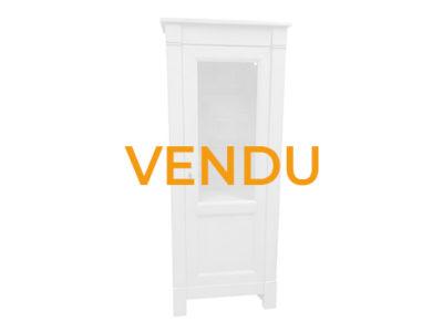 Vendu - Vitrine 1 porte merisier laque grise - Charles