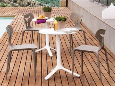 Chaise cuisine design polypropylène Are