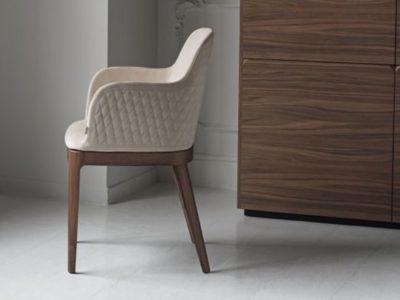 Chaise de salle à manger design cuir Bontempi Casa margot