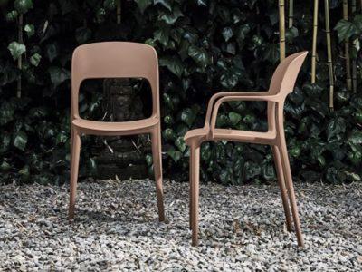 Chaise design contemporain Bontempi Casa Gipsy