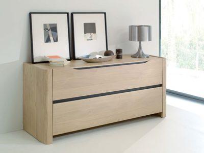 Commode scandinave en bois 2 tiroirs Lilou