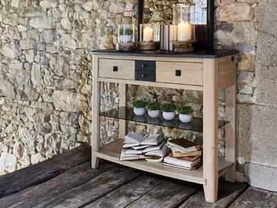 Meuble console d'entrée en bois Séraphine