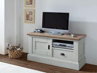 Petit meuble TV en bois style campagne chic Romance