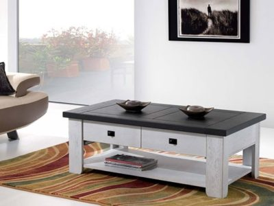 Petite table basse en bois personnalisable Withney