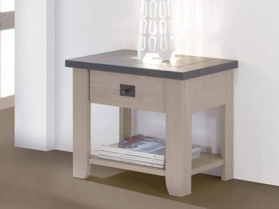 Table de chevet en bois style campagne chic Withney