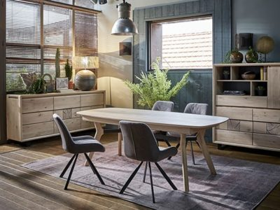 Table de salle à manger en bois style nature Eden