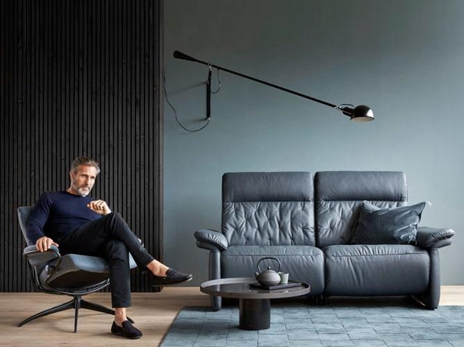 Canapé design 2 places Stressless Meubles Bouchiquet