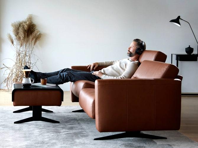 Canapé relax design Stressless meubles Bouchiquet